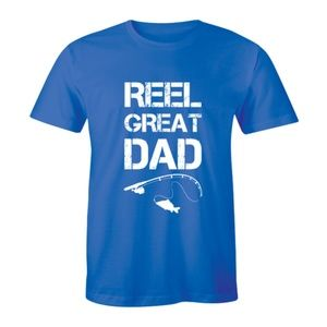 Reel Great Dad Fathers Day Fish Lover Mens T-shirt